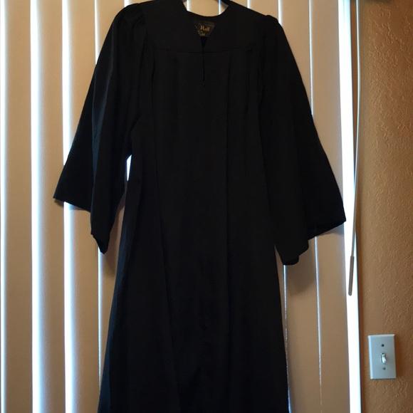 Oak Hall Other   Black Graduation Gown Bachelor   Poshmark